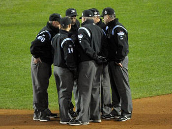 Umpires were unable to find any foreign substances on Obama's glove, and the game was allowed to continue.