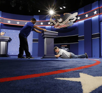 The best part of the debate was before it even happened.