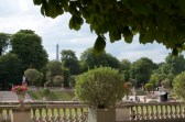 From some areas of the garden, you can see the Eiffel tower.