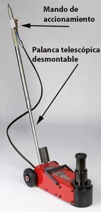 Gato Oleoneumático Portátil NP15-2B palanca desmontable