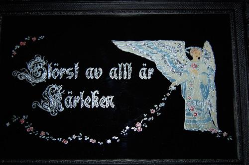 tavla med ängel