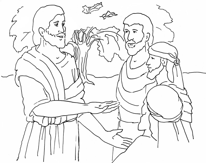 Parable Of The Mustard Seed Coloring Page