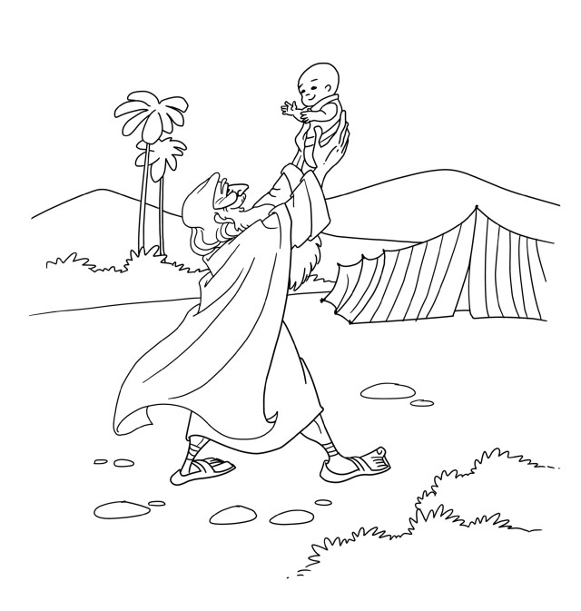 Abraham and Isaac Coloring Page  Sermons26Kids