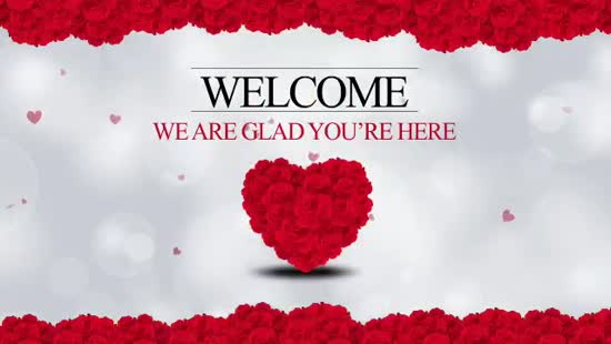 Valentines Day Welcome Loop Hyper Pixels Media
