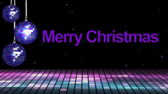 Merry Christmas Greeting Purple HIS HANDS WORSHIP MEDIA