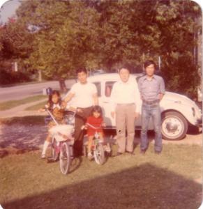 김수근교수님댁 가족들과 1973년 Sherman, Texas
