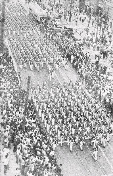 육군사관생도 혁명지지 궐기행진
