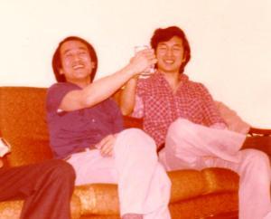 유근호 형과 박호군씨, 1978