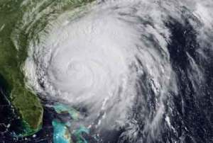 major hurricane Irene near Florida coast
