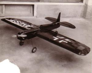 gas engine powered model airplane, Angst, 1966