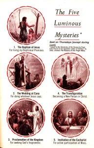 Five Luminous Mysteries, 빛의 신비 5단