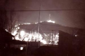 남영동에서 본 남산 야경, 1966년 3월