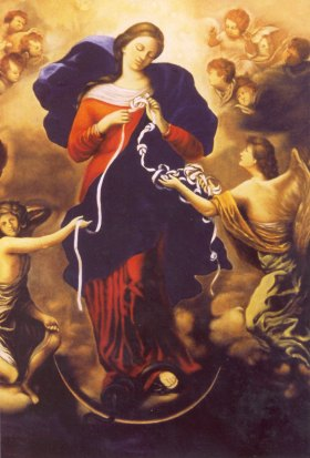 Painting 'Mary, Undoer of Knots' since 1700
