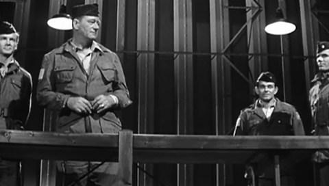 John Wayne as Lt. Col. Vanderboort