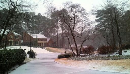 내가 본 마지막 아틀란타의 설경, 2015년 2월 24일 이었다. 약간의 눈발과 dusting 정도..
