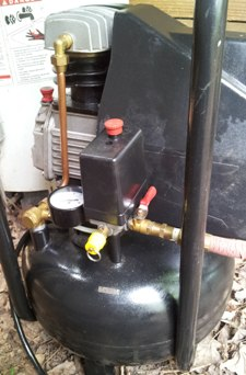 fully-repaired 4-gallon 'pancake' air compressor