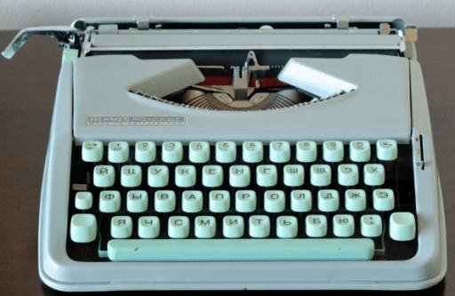 1960년 대 Hermes typewriter
