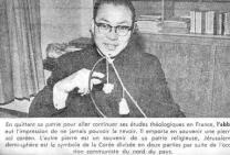 1968년 불어판 '모든 길은 신에게로'(예수 없는 십자가)가 출판되었을 때의 신문 보도
