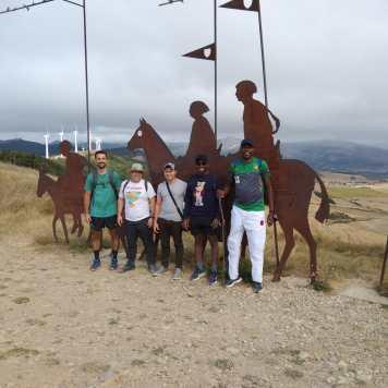 En el Alto del Monte del Perdón. Navarra.