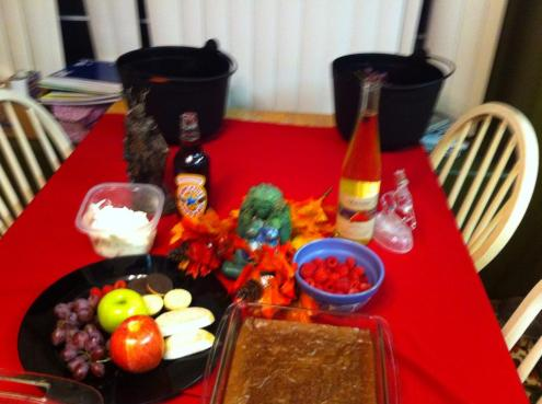 An after-rite coven feast for the Autumn Equinox