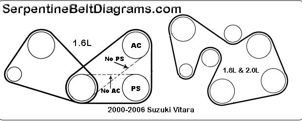 2000 Suzuki Esteem Serpentine Belt Diagram