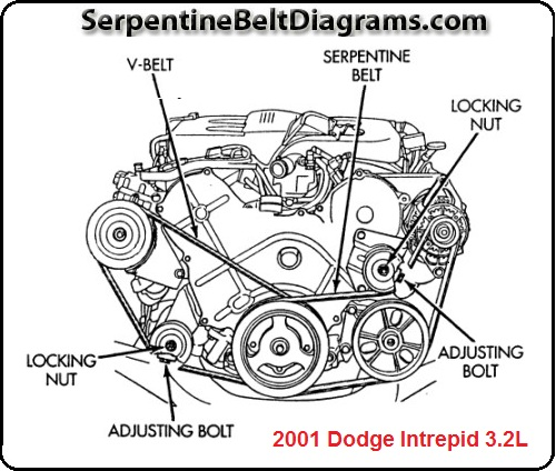 2001 Dodge Intrepid Serpentine belt-3.2L and 3.5L engines