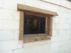 North side window with screen