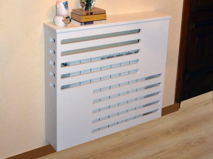 Cubreradiador CD01 lacado blanco a medida Vifrec