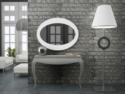 Consola y espejo entrada plata