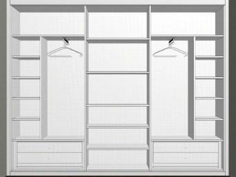 Interior armario fondo reducido a medida