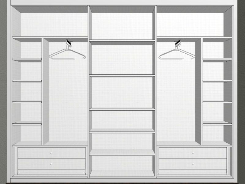 Medidas de armarios empotrados good armarios de diseo - Armario poco fondo ...