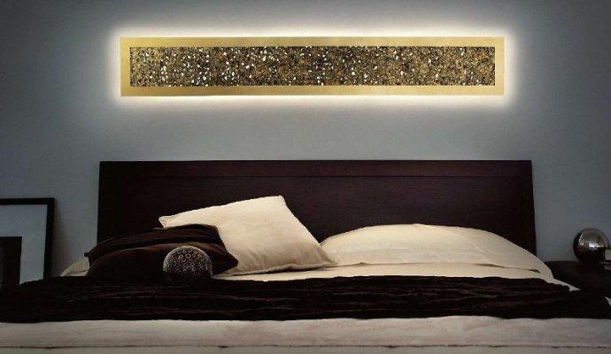Plafon de pared EviStyle retroiluminado 160x25 pan de oro