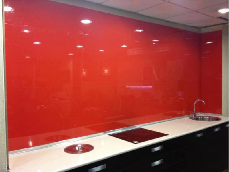 Panel laca brillo rojo para revestimientos de paredes de