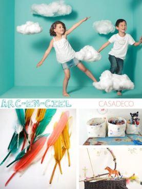 Arc-En-Ciel papeles pintados y telas infantiles Casadeco