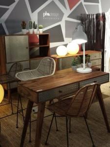 Feria del mueble de Zaragoza mueble auxiliar estilo industrial loft vintage