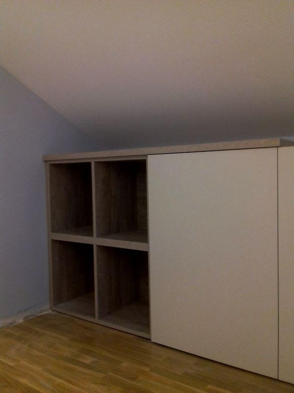 Proyecto Mueble Funcional Diseño De Mobiliario A Medida: Zona Baja, Mueble A Medida Huecos Abiertos Y Puertas