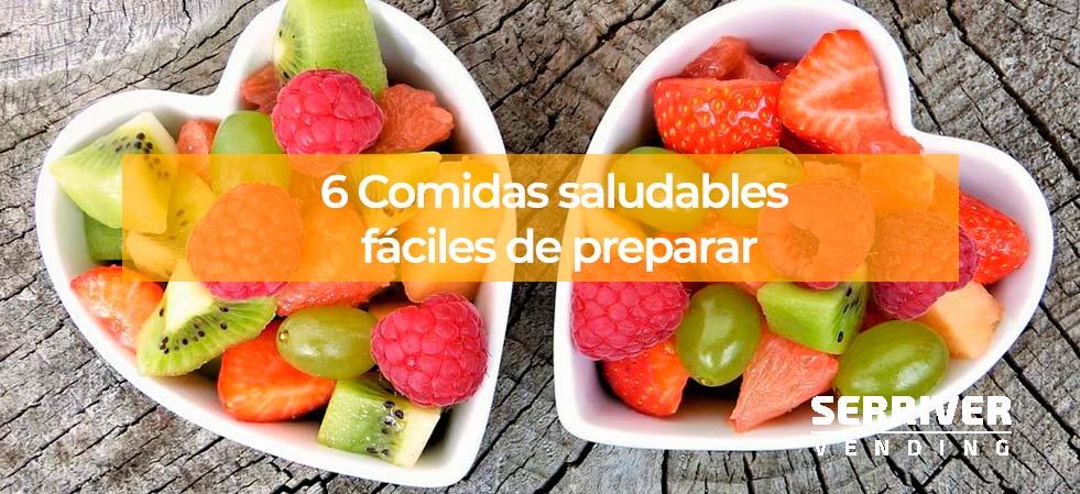 6 Comidas saludables fciles de preparar  Serriver Vending