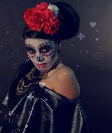 cómo hacer el maquillaje de katrina