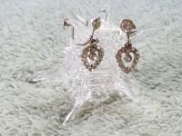 Vintage Rhinestone Heart Screw Back Earrings - Aunt Gladys ...