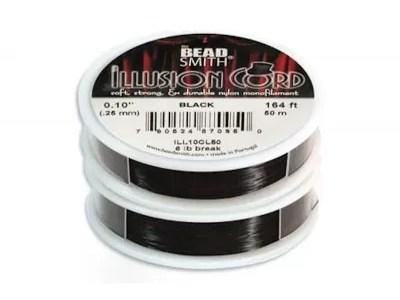 Fir Illusion Cord 0,26mm, negru