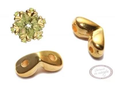 MITAKAS - terminatie speciala pentru GemDuo, placata cu aur, 2 buc.