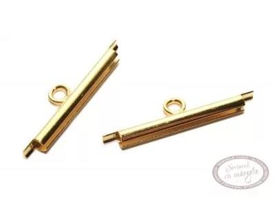 Terminatie Miyuki slide, 20mm, placata cu aur, 2 buc