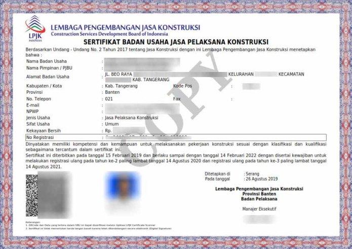 Jasa Pengurusan SBU Jakarta Bandung Surabaya