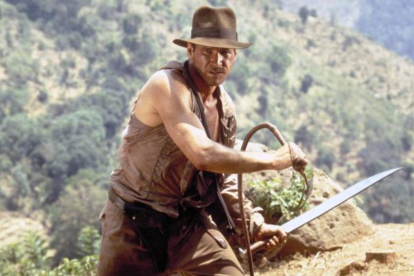 Indiana Jones and the Temple of Doom (1984) Directed by Steven Spielberg Shown: Harrison Ford (as Indiana Jones)