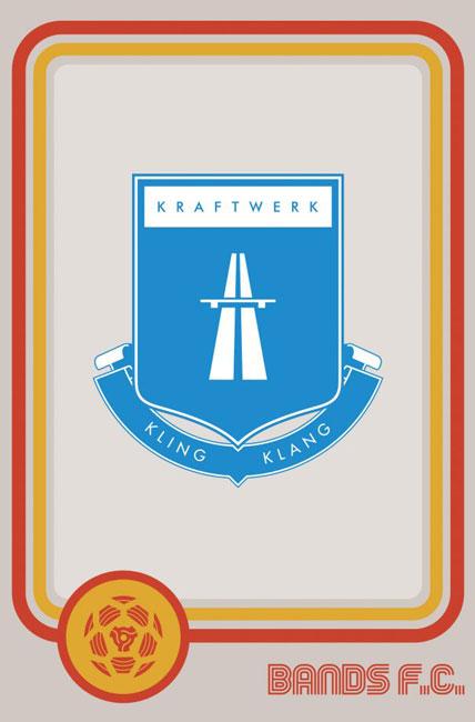 Tim Burgees Bands F.C. Football Logos Kraftwerk