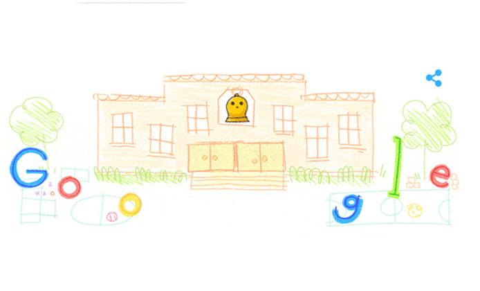 Okulun İlk Günü doodle oldu! Google'dan öğrencilere doodle sürprizi!