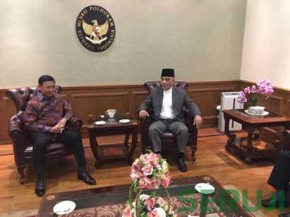 Pertemuan para ulama dengan Menkopolhukam Wiranto.
