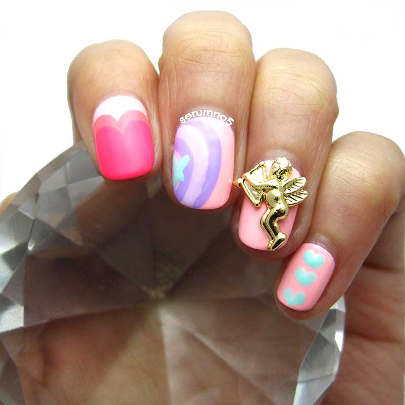 Nail Art February Challenge: February Nail Art Challenge: XOXO, Hearts & Pastel