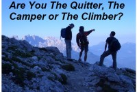 Are you The Quitter, The Camper, or The Climber?