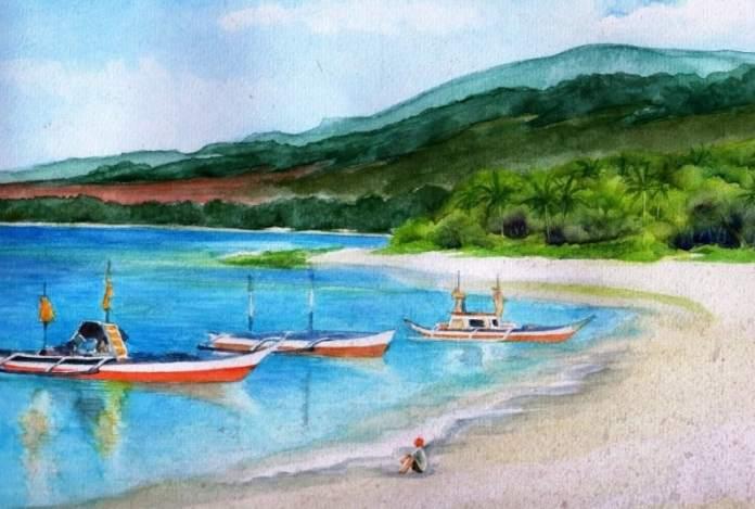 12 Contoh Lukisan Pemandangan Alam Paling Indah Dengan Menggunakan